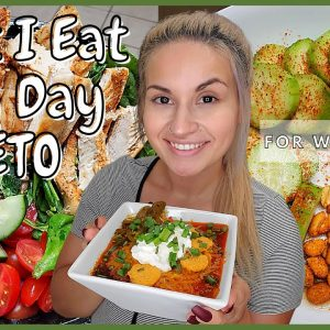What I Eat In  A Day KETO | Feeling Under The Weather Today